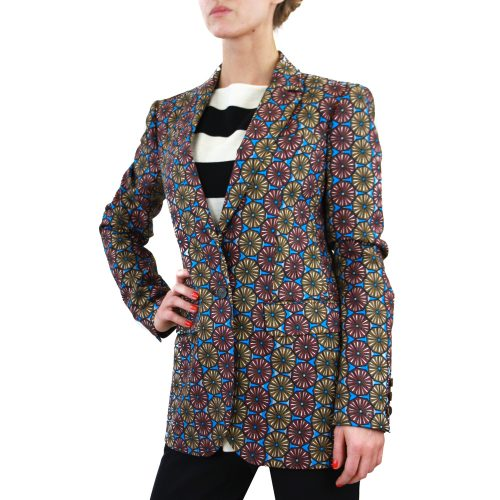 Abbigliamento STELLA JEAN - giacca lunga blu a fantasia | OneMore (2)