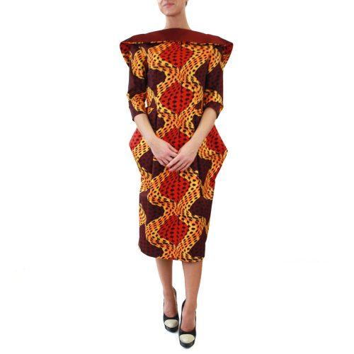 Abbigliamento STELLA JEAN - abito tubo | OneMore arancione (1)