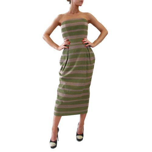 Abbigliamento STELLA JEAN - abito tubo | OneMore verde (1)