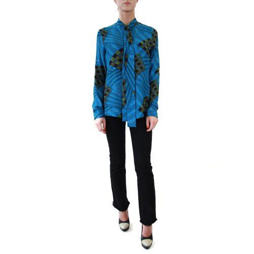 Abbigliamento STELLA JEAN - camicia con fiocco | OneMore costanza azzurro (1)