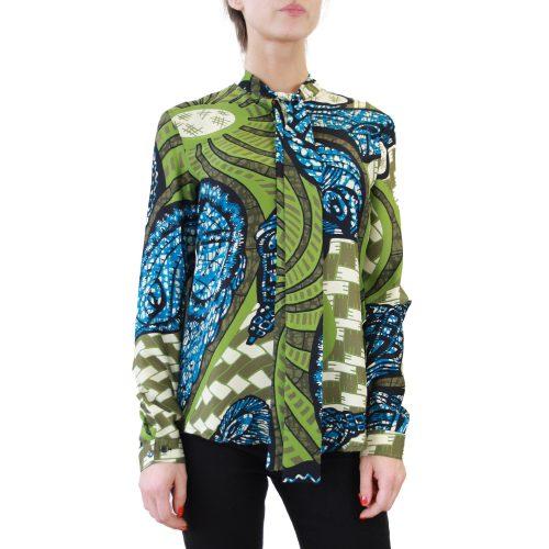 Abbigliamento STELLA JEAN - camicia con fiocco | OneMore glora verde (2)