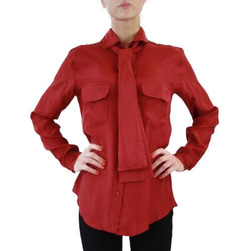 Abbigliamento STELLA JEAN - camicia con fiocco | OneMore morena rosso (2)