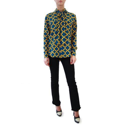 Abbigliamento STELLA JEAN - camicia con fiocco | OneMore rossella blu (1)