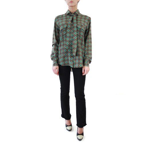 Abbigliamento STELLA JEAN - camicia con fiocco | OneMore rossella verde (1)