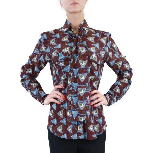 Abbigliamento STELLA JEAN - camicia con fiocco | OneMore rossella viola (1)