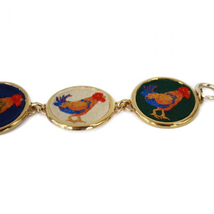 Accessori STELLA JEAN - bracciale oro con ricamo - OneMore (3)