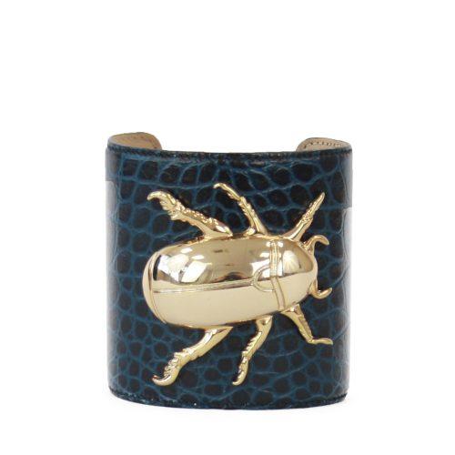 Accessori STELLA JEAN - bracciale rigido con insetto blu - OneMore (1)