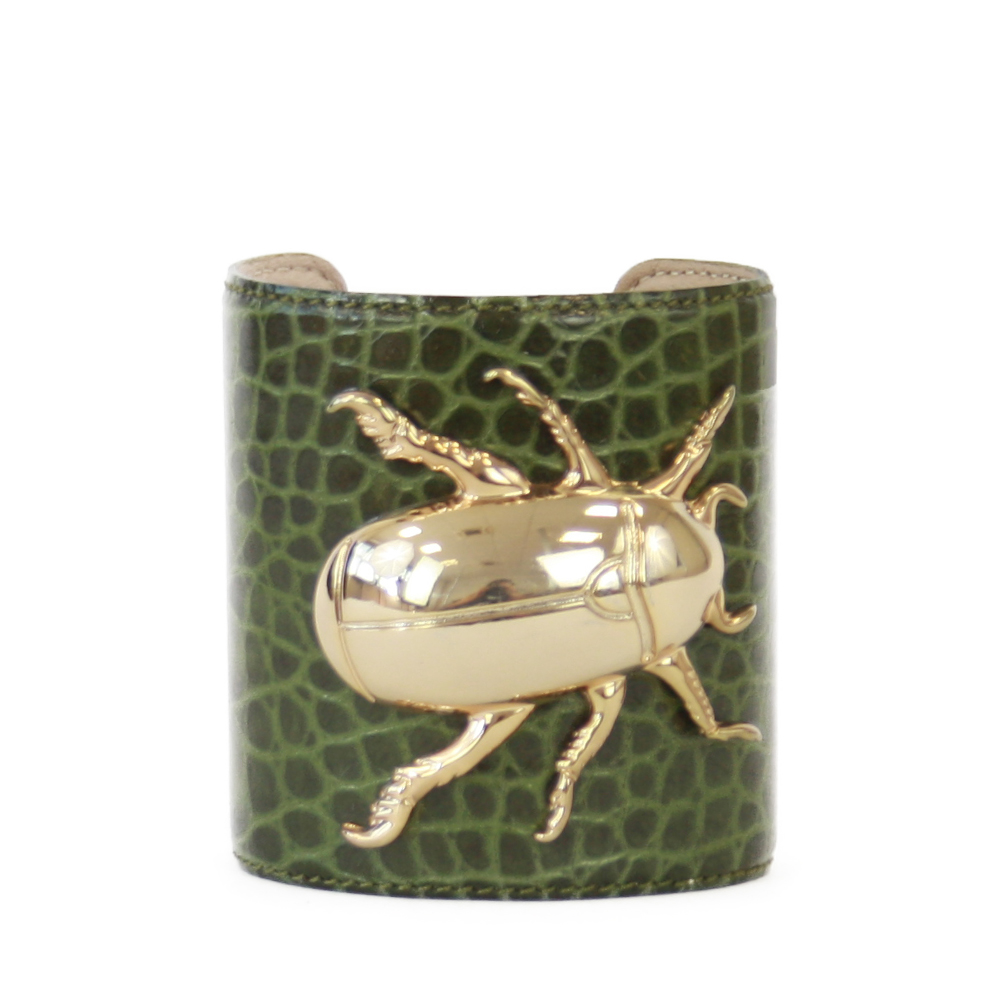Accessori STELLA JEAN - bracciale rigido con insetto verde - OneMore (1)