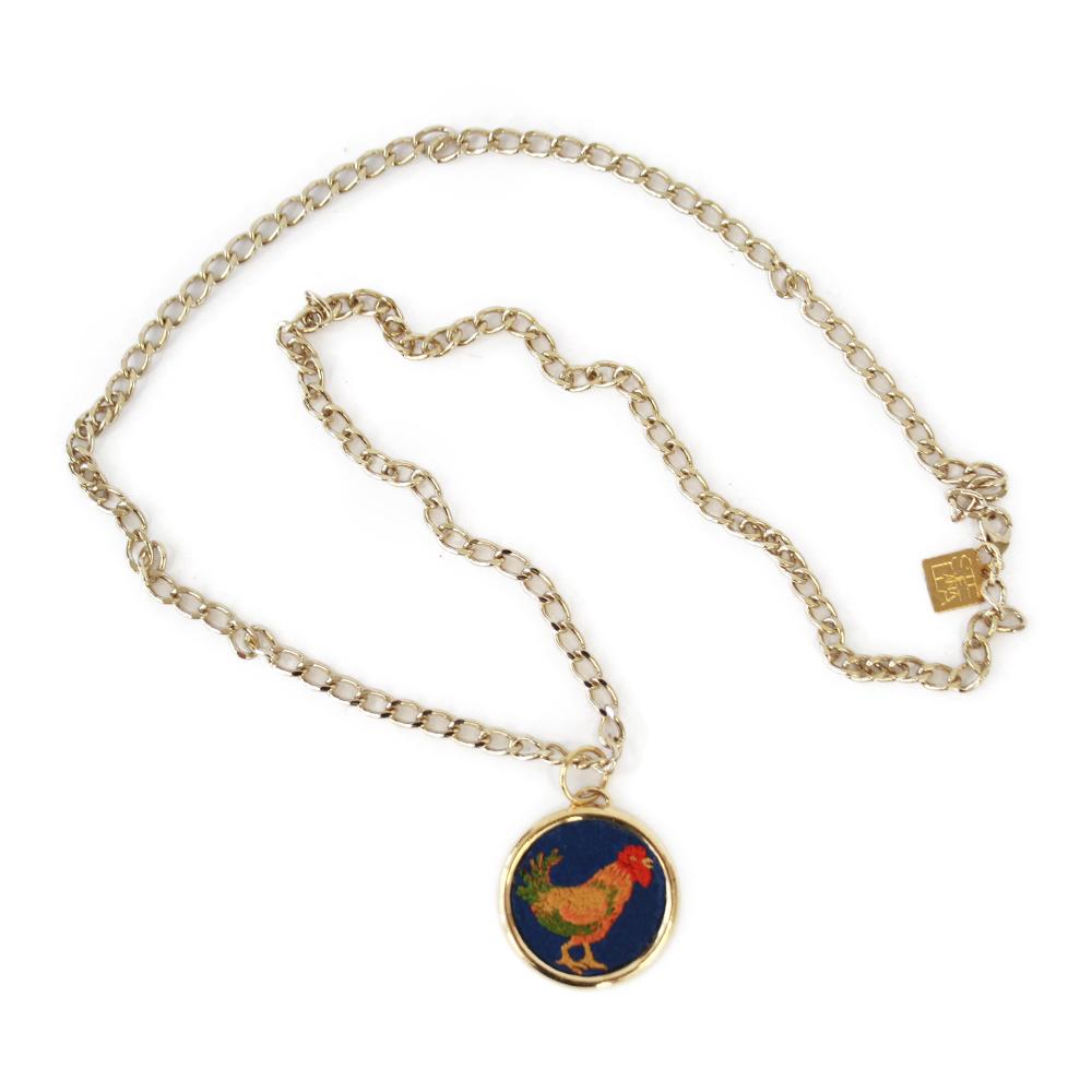 Accessori STELLA JEAN - collana oro con ricamo - OneMore (1)