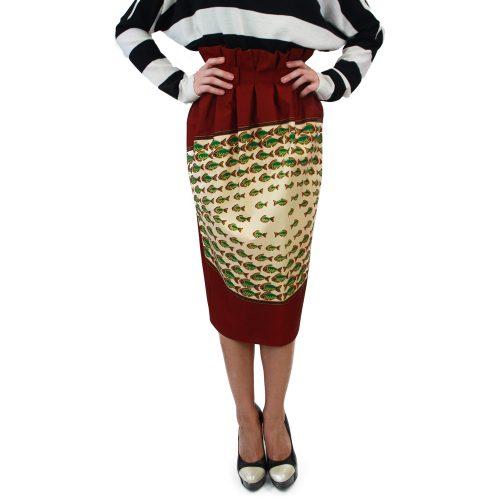 Abbigliamento STELLA JEAN - gonna con arriccio rosso   OneMore (1)