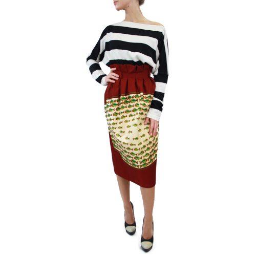 Abbigliamento STELLA JEAN - gonna con arriccio rosso   OneMore (2)