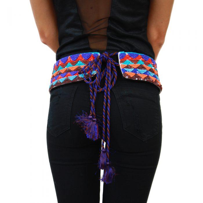 Accessori STELLA JEAN - cintura con lacci azzurro | OneMore (1)
