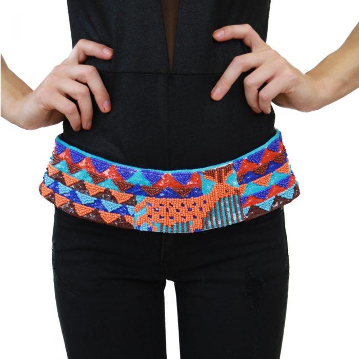 Accessori STELLA JEAN - cintura con lacci azzurro | OneMore