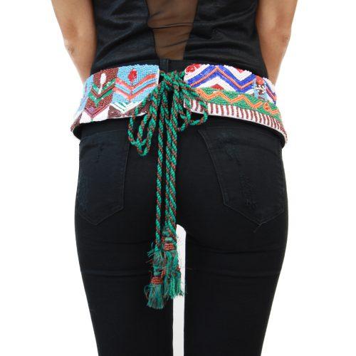 Accessori STELLA JEAN - cintura con lacci verde | OneMore (1)