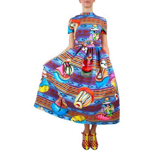 Abbigliamento STELLA JEAN - abito ampio stampa perù |OneMore (2)