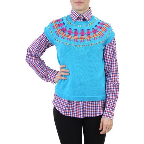 Abbigliamento STELLA JEAN - gilet in maglia | OneMore azzurro (1)