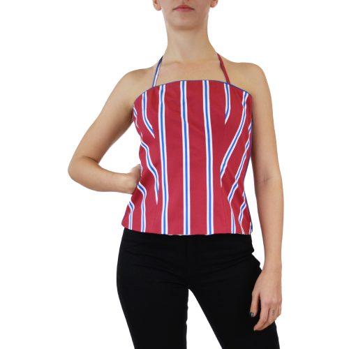 Abbigliamento STELLA JEAN - top bustino| OneMore a righe bordeaux (1)