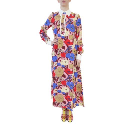 Abbigliamento VIVETTA - abito lungo | OneMore fiori rosso (1)