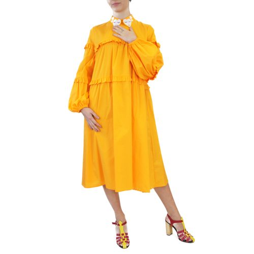 Abbigliamento VIVETTA - abito lungo arancione bavero | OneMore (1)