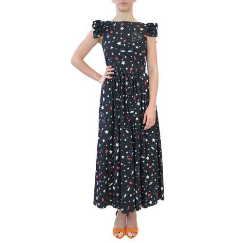 Abbigliamento VIVETTA - abito lungo fantasia | OneMore nero (1)