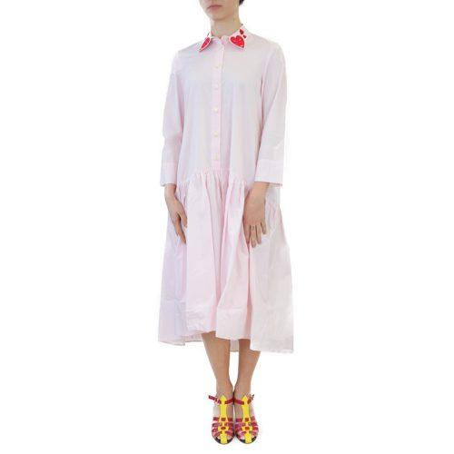 Abbigliamento VIVETTA - abito lungo rosa bavero | OneMore (1)