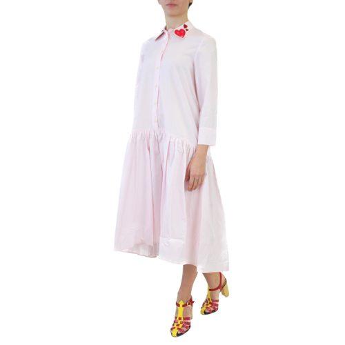 Abbigliamento VIVETTA - abito lungo rosa bavero | OneMore (2)