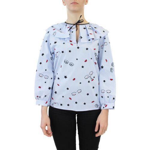 Abbigliamento VIVETTA - blusa dettaglio fiocco | OneMore bavero (1)