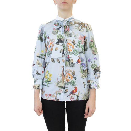 Abbigliamento VIVETTA - blusa dettaglio nastro | OneMore azzurro (1)