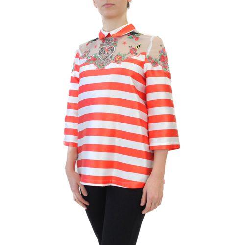Abbigliamento VIVETTA - casacca a righe arancione | OneMore (2)