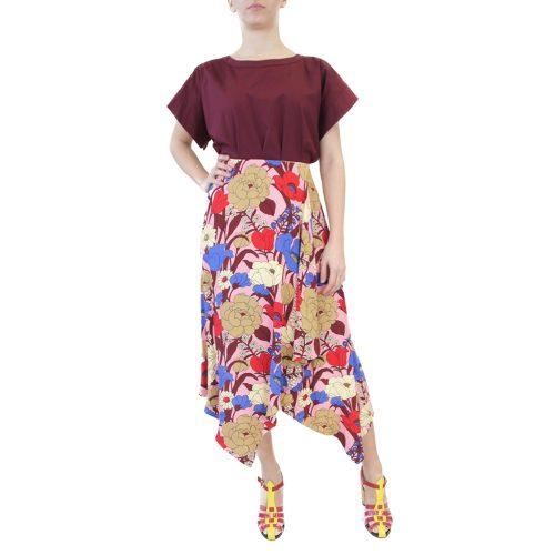 Abbigliamento VIVETTA - gonna lunga | OneMore fiori rosso (1)
