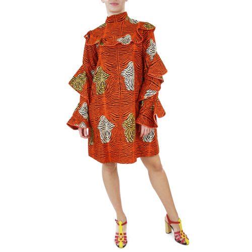 Abbigliamento STELLA JEAN - abito dettaglio volants | OneMore arancione (1)