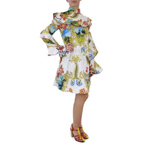 Abbigliamento STELLA JEAN - abito dettaglio volants | OneMore bianco (2)