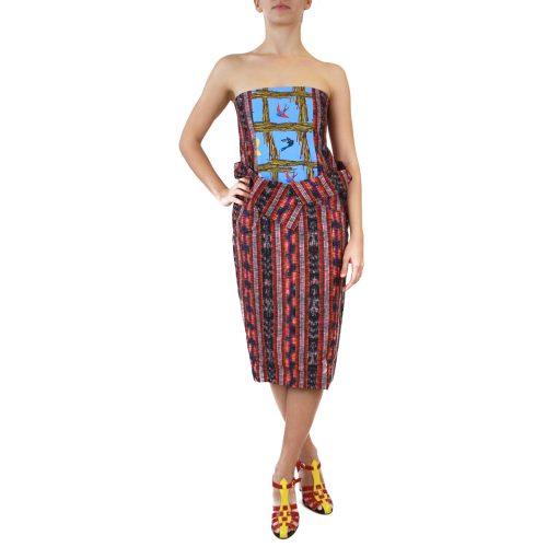 Abbigliamento STELLA JEAN - abito senza spalline | OneMore rosso (1)