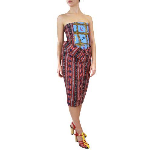 Abbigliamento STELLA JEAN - abito senza spalline | OneMore rosso (2)