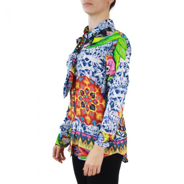 Abbigliamento STELLA JEAN - camicia con fiocco | OneMore blu (2)