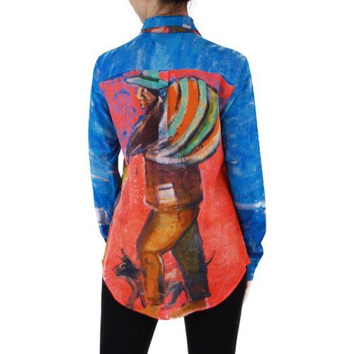 Abbigliamento STELLA JEAN - camicia con fiocco | OneMore blu perù (2)