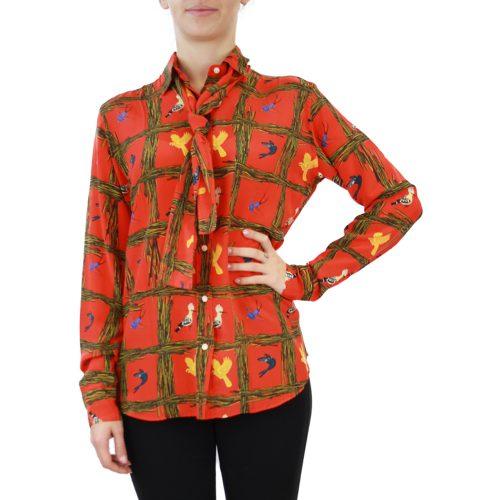 Abbigliamento STELLA JEAN - camicia con foulard | OneMore arancione (1)