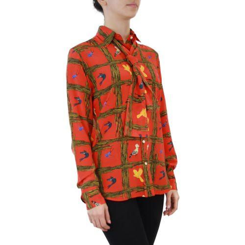 Abbigliamento STELLA JEAN - camicia con foulard | OneMore arancione (2)