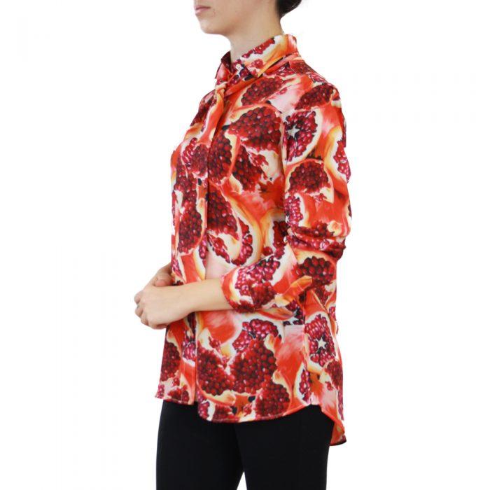 Abbigliamento STELLA JEAN - camicia con foulard   OneMore arancione melograno (2)