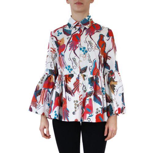 Abbigliamento STELLA JEAN - camicia dettaglio balze | OneMore bianco (1)