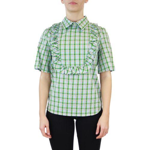 Abbigliamento STELLA JEAN - camicia dettaglio rouches | OneMore quadretti verde (1)