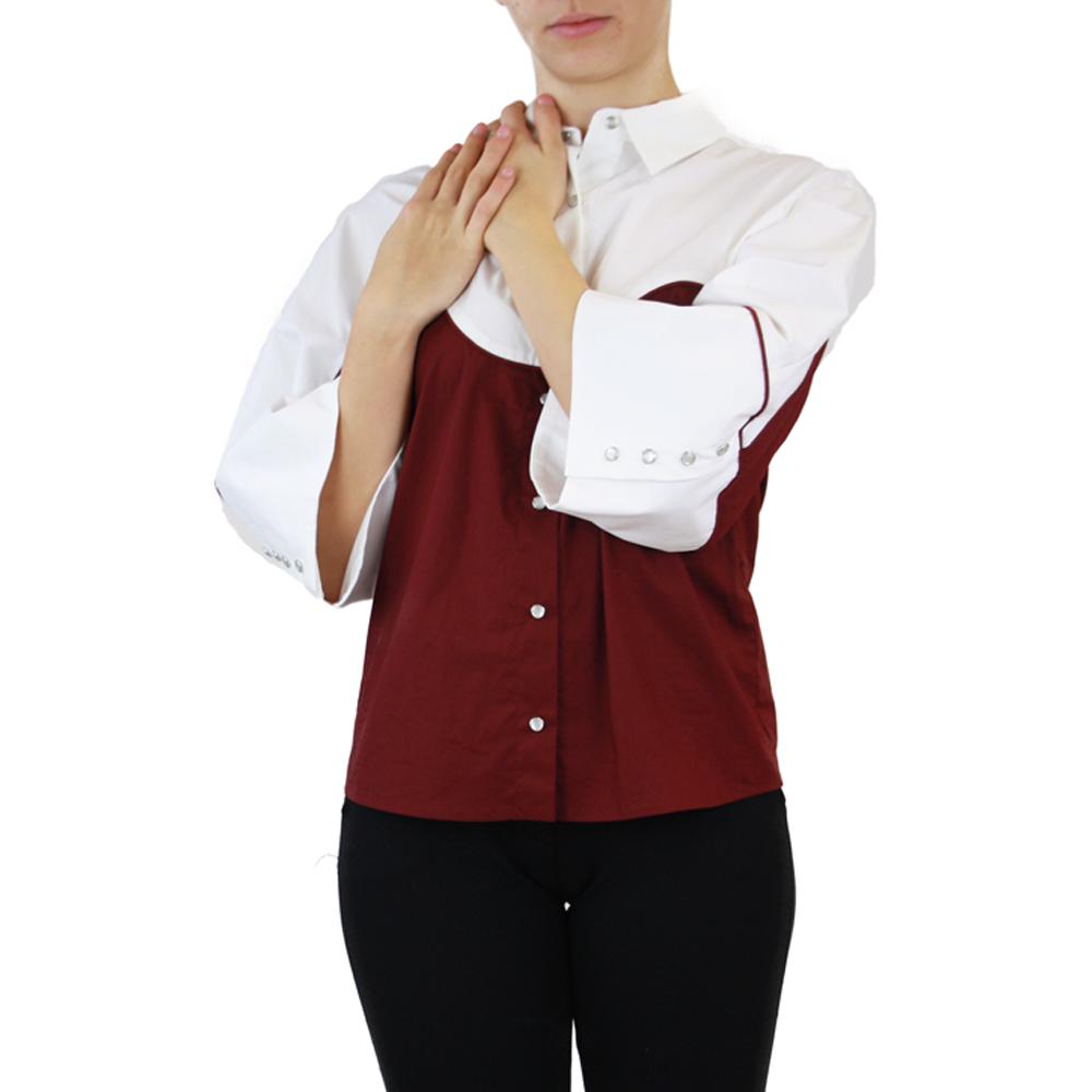 Abbigliamento STELLA JEAN - camicia manica 3:4   OneMore bordeaux (1)