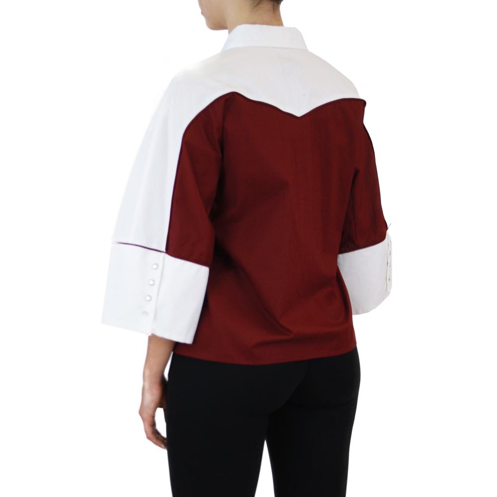 Abbigliamento STELLA JEAN - camicia manica 3:4   OneMore bordeaux (2)