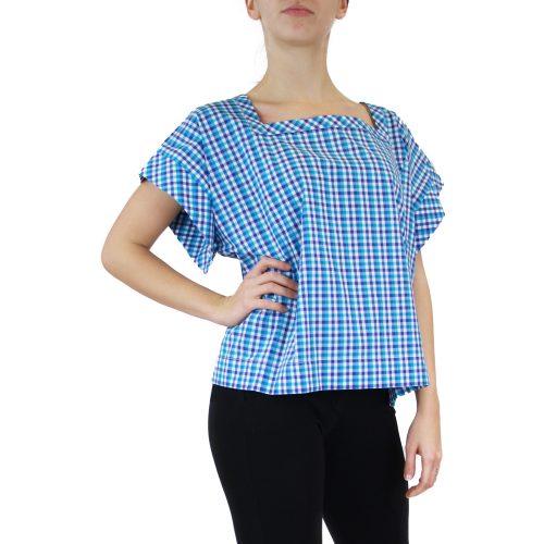 Abbigliamento STELLA JEAN - camicia scollo quadrato | OneMore quadretti azzurro (2)