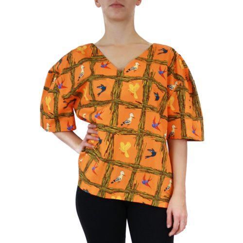 Abbigliamento STELLA JEAN - casacca collo a v | OneMore arancione (2)