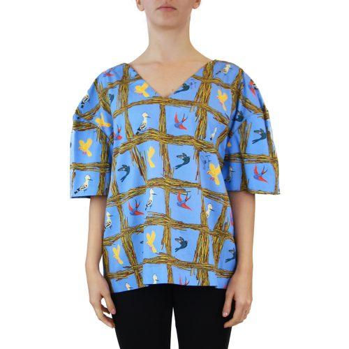 Abbigliamento STELLA JEAN - casacca collo a v | OneMore azzurro (1)