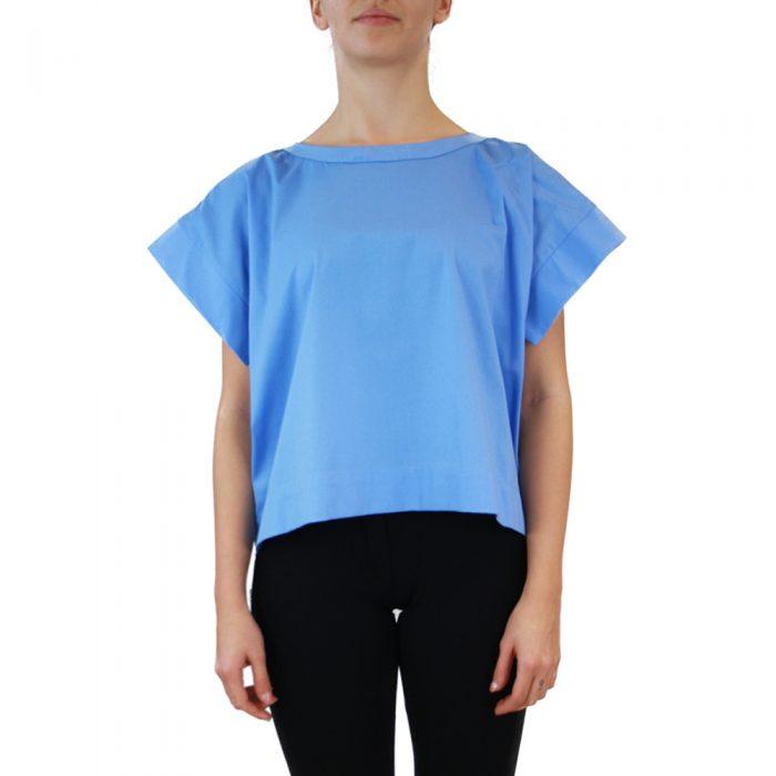 Abbigliamento STELLA JEAN - casacca girocollo | OneMore azzurro (1)