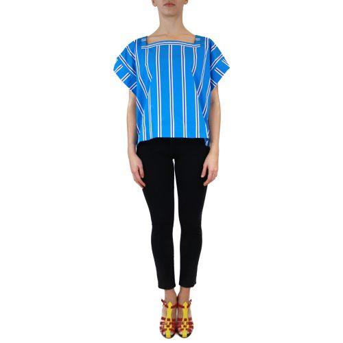 Abbigliamento STELLA JEAN - casacca scollo quadrato | OneMore azzurro (1)