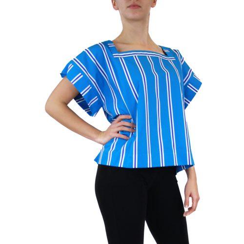 Abbigliamento STELLA JEAN - casacca scollo quadrato | OneMore azzurro (2)