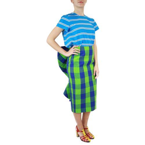 Abbigliamento STELLA JEAN - gonna al ginocchio   OneMore drappeggio dietro quadri grandi (1)